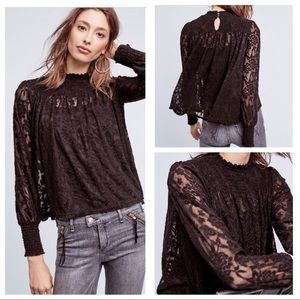 {Anthropologie} Amanna Lace Top
